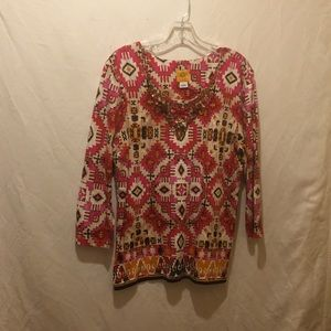 Women's beautiful top NWOT.GEORGEOUS BEADING